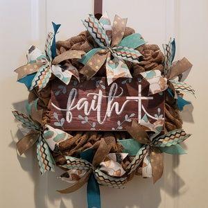 Handmade Burlap Wreath,All season Wreath,Door,Wall